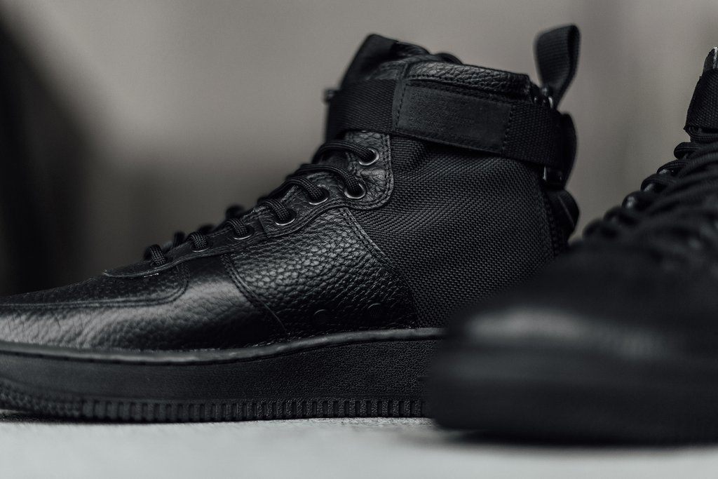 "sports shoes 7b5d3 da2c1 Nike SF-AF1 Mid ""Triple Black"" is Now Available - WassupKicks"