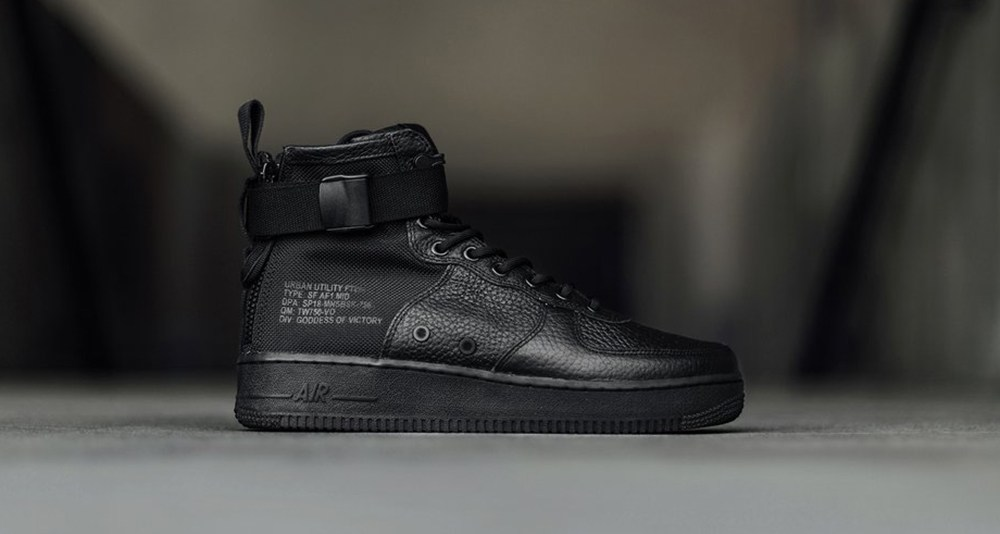 """Nike SF AF1 Mid """"Triple Black"""" is Now Available WassupKicks"""