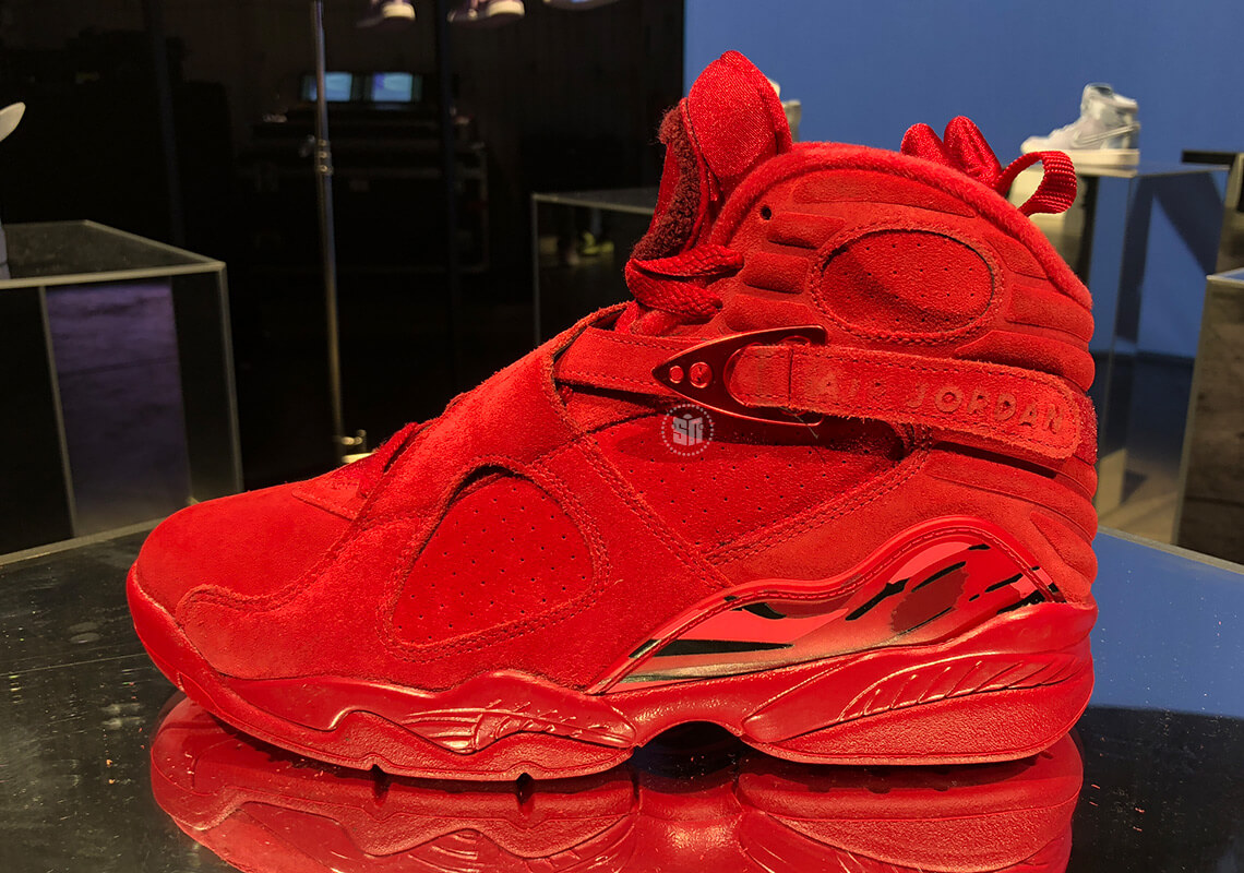 newest b7b01 55fe4 All-Red Air Jordan 8 For Valentine's Day Release Date ...