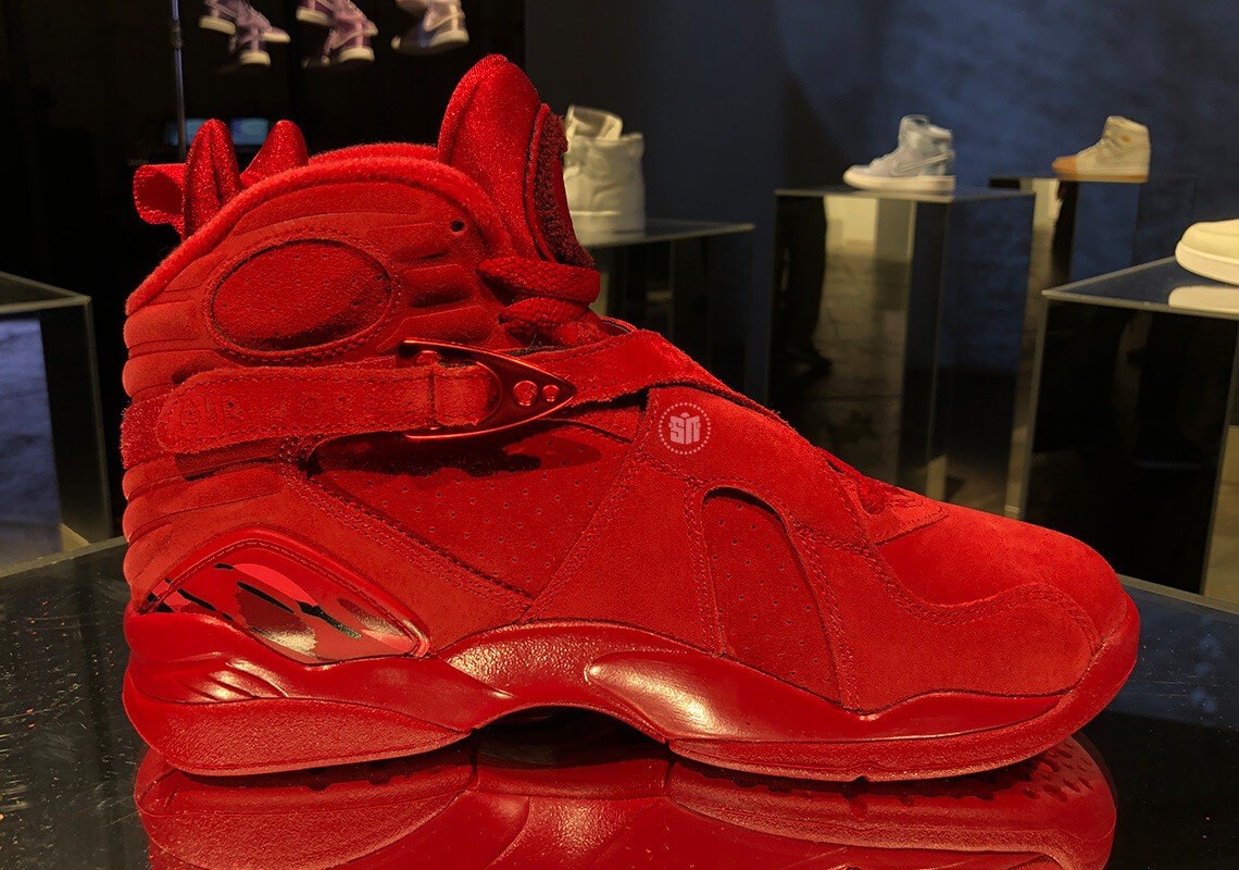 newest 98708 b7b89 All-Red Air Jordan 8 For Valentine's Day Release Date ...