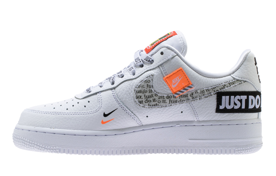"NIKE AIR FORCE 1 07 PREMIUM ""JUST DO IT"" DROPPING IN WHITE"