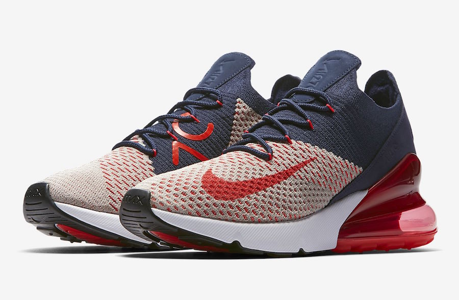 air max 270 flyknit red