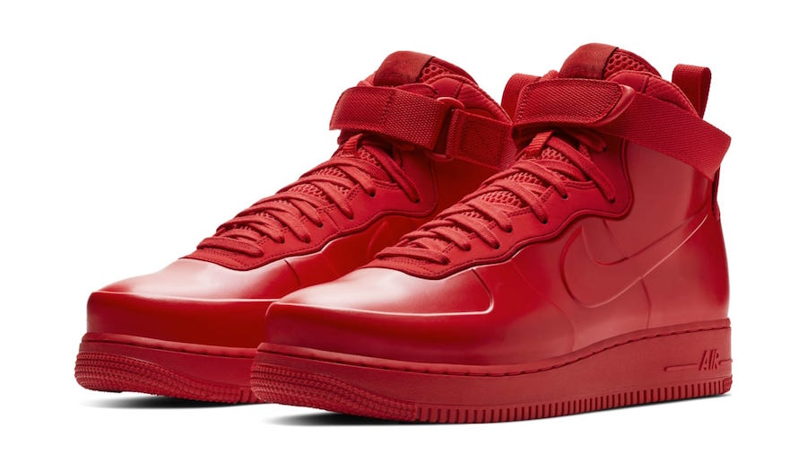 The Nike Air Force 1 Foamposite All Red Coming These Days Wassupkicks