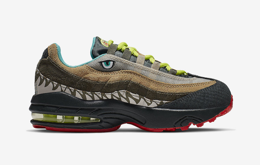 Details about Nike Air Max 95 GS NEON WOLF GREY CYBER BLACK 905348 017 Youth Big Kid's Boy's